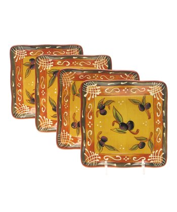 Olive Canapé Plate - Set of Four
