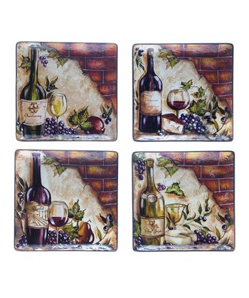Bottle of Wine 11'' Dinner Plate Set