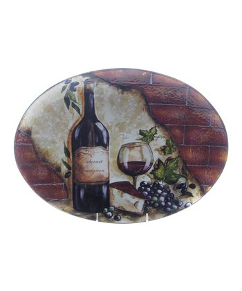 Grape Bunch 16'' Oval Platter