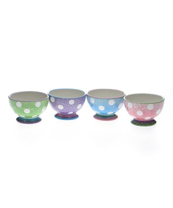 Dot Splatter Pedestal 5.25'' Bowl Set