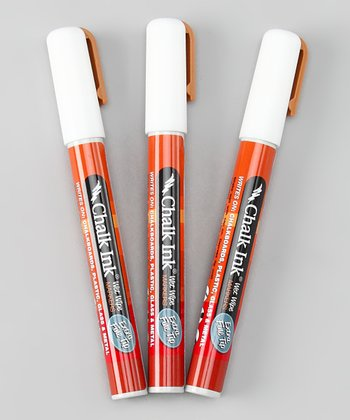 White Extra-Fine Marker - Set of Three