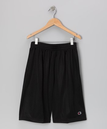 Black Heritage Mesh Shorts