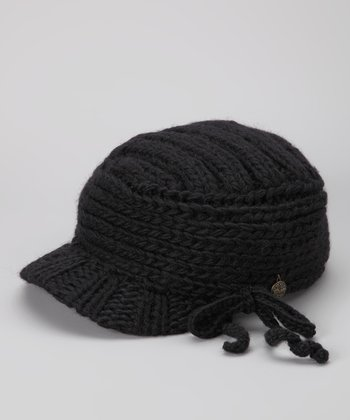 Black Wool Frenchy Cadet Cap