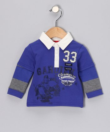 Royal Blue Polo - Infant