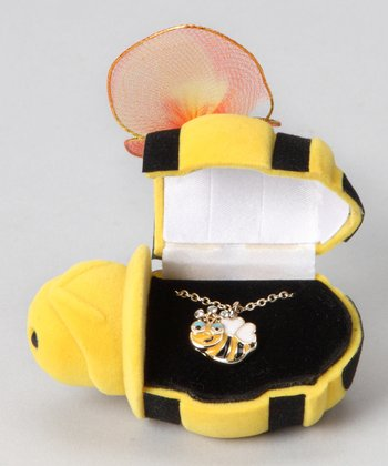 Yellow Bee Box & Necklace