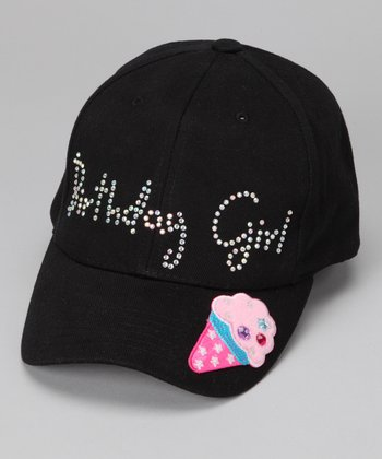 Black 'Birthday Girl' Baseball Cap