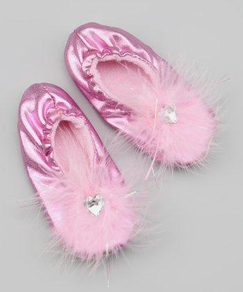 Metallic Pink Slipper