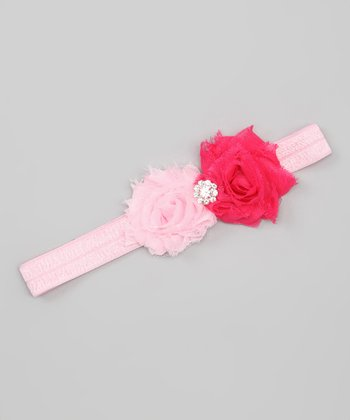 Pink Mini Flower Shabby Chic Headband