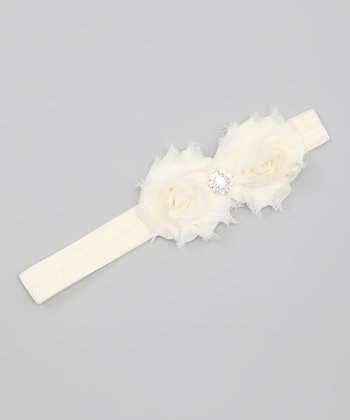 Ivory Mini Flower Shabby Chic Headband