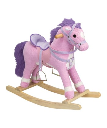Charm Co. Pink Princess Horse Rocker