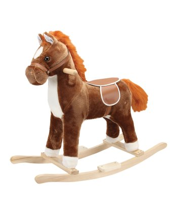 Brown Pinto Horse Rocker