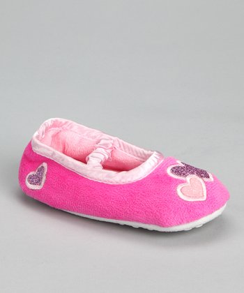 Fuchsia & Pink Heart Slipper