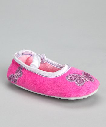 Fuchsia & Purple Butterfly Slipper