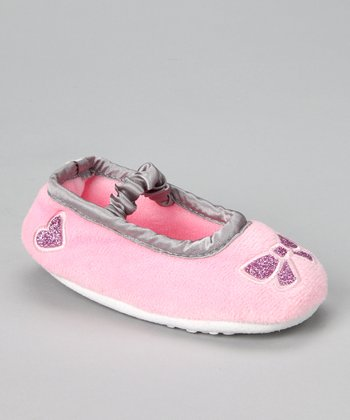 Light Pink Bow Slipper