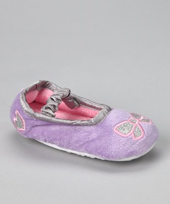 Purple Bow Slipper