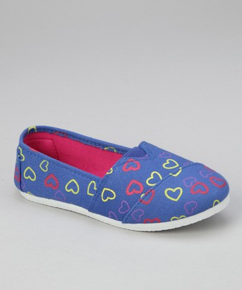 Cobalt Heart Slip-On Shoe