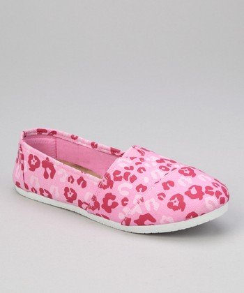 Powder Pink & Magenta Leopard Shoe