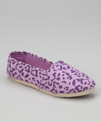 Lilac Leopard Slip-On Shoe