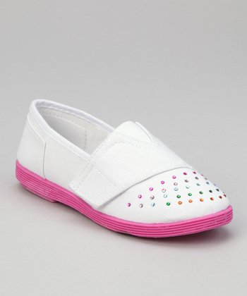 White Rhinestone Shoe