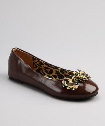 Chatties Brown Patent Ballet Flat