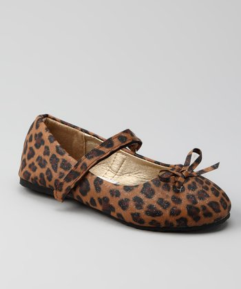 Tan Leopard Mary Jane