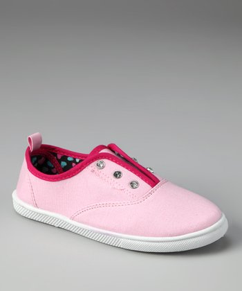 Light Pink Rhinestone Slip-On Sneaker