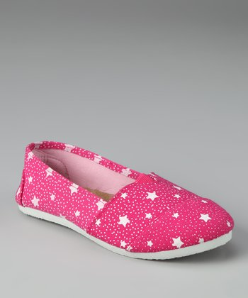 Chatties Fuchsia Stars Slip-On Shoe
