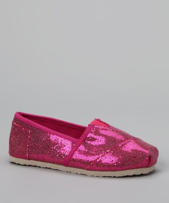 Chatties Fuchsia Sparkle Slip-On Shoe