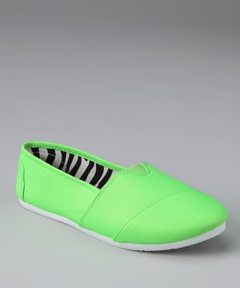 Chatties Neon Lime Slip-On Shoe