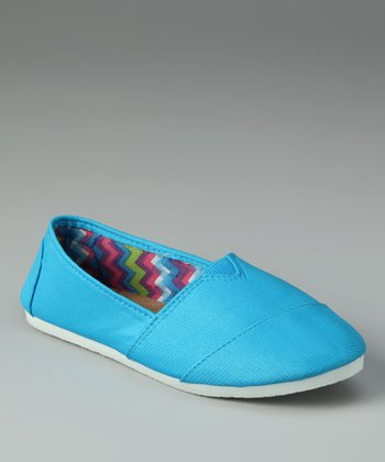 Chatties Neon Turquoise Slip-On Shoe