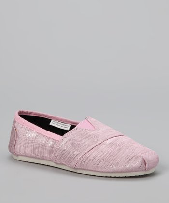 Chatties Light Pink Shimmer Slip-On Shoe