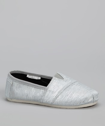 Chatties Silver Shimmer Slip-On Shoe