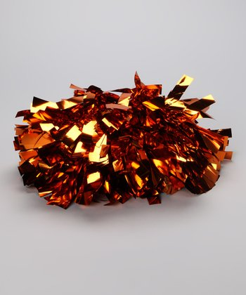 Orange Metallic Pom-Pom