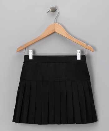 Black Pleated Cheerleader Skirt - Girls