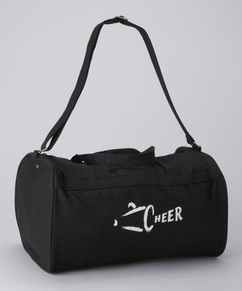 Black & White 'Cheer' Megaphone Duffel Bag