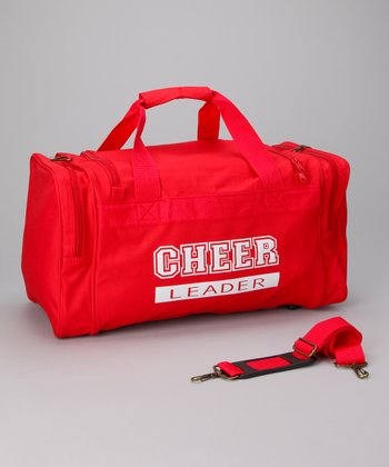 Red & White 'Cheerleader' Duffel Bag