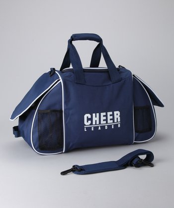 Navy & White 'Cheer' Ultimate Duffel Bag