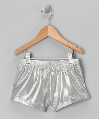 Silver Metallic Undershorts - Girls