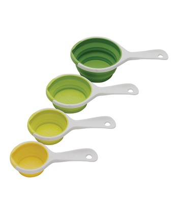 Green SleekStor Pinch & Pour Collapsible Measuring Cup Set