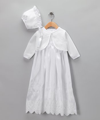 White Babydoll Christening Gown Set