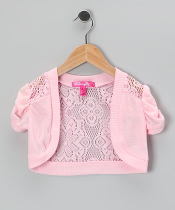 Sachet Lace Puff-Sleeve Shrug - Toddler
