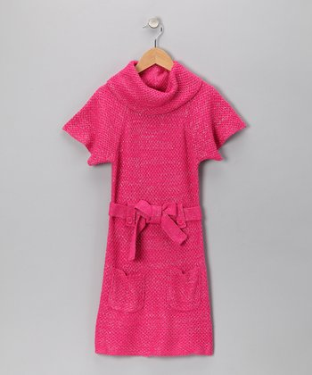 Cherry Stix Pink Pocket Sweater Dress - Girls