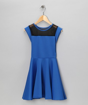 Royal Blue Skater A-Line Dress
