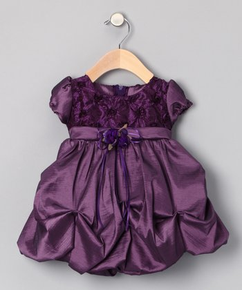 Plum Pickup Dress - Infant
