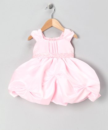 Pink Sequin Bubble Dress - Infant