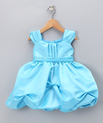 Turquoise Sequin Pickup Dress - Infant