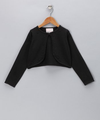 Black Beaded Bolero - Infant