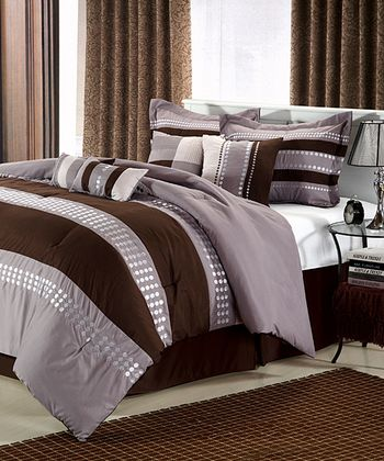 Brown June Comforter Set