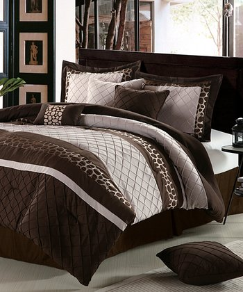 Brown & Beige Savannah King Comforter Set