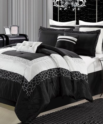 Black & White Safari Comforter Set